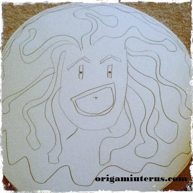 Making Athena S Medusa Head Shield Origami Uterus