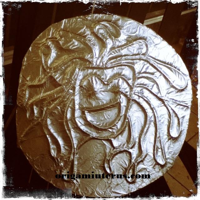 Making Athena's Medusa Head Shield | Origami Uterus